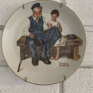 3 Norman Rockwell Vintage Plates
